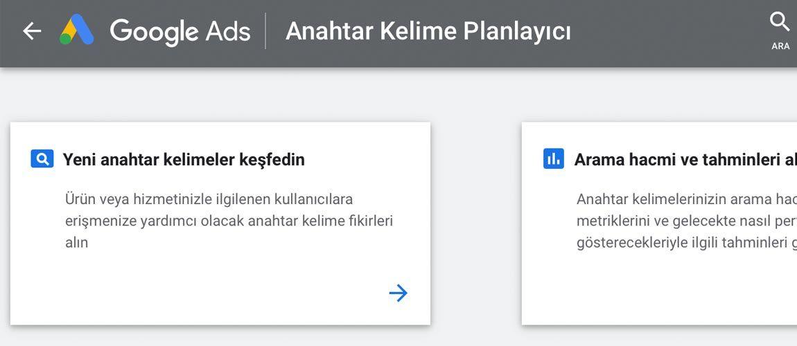 Google Adwords Anahtar Kelim Fikri