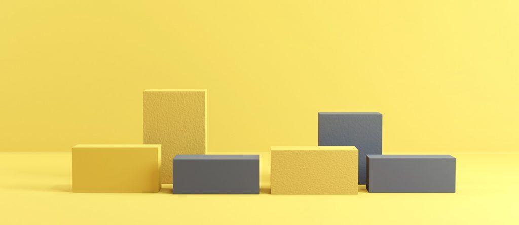 sarı ve gri kutular